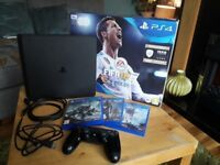 IMMACULATE Ps4 slim 500gb comes with 4 games 1 pad. Played ona few times C/W 2 YEARS WARRANTY!!