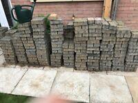 Permeable block paving bricks (Brett Omega Flow Paving) 215X115X60mm
