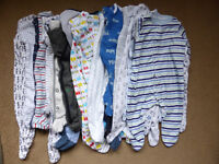 Bundle of 19 First Size and 0-3 Months Sleepsuits