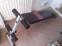 Adjustable Foldable Exercise Abdominal Sit Up Bench Black Pro Power