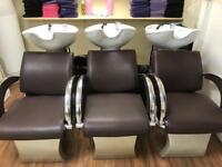 Half Salon of Furniture 7 Chairs 3 Wash Units
