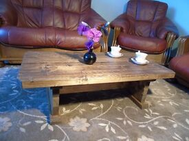Rustic Style Handmade Vintage Coffee Table- Many Sizes & Colours