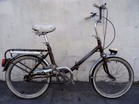 Folding Bike by Stratton/ Italy, Brown, Top Condition, Small Size, JUST SERVICED / CHEAP PRICE!!!!!!