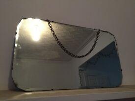 1950s Vintage/Retro Bevelled Glass Mirror
