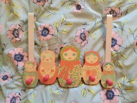 Next Russian dolls girls door hanger coat hooks