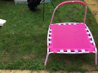 Child's first trampoline pink