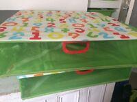 Ikea children's underbed storage boxes x2