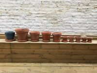 Claypots in various sizes - sold separate or all together