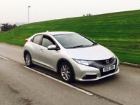 2012 Honda Civic 2.2 i DTEC Hatchback 5dr diesel silver***ONE COMPANY OWNER**HIGH MILES