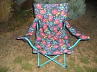 Folding Chair Floral Design