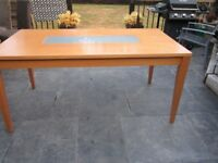 Beech Dining Table - good condition considering usage