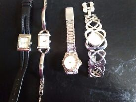 Four ladies dress watches. 1 Infinite,1 Seksy, 1 Limit,1 unnamed.