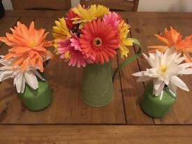 FLOWERS, JUG & VASES
