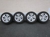 £75 FOR 4 x MERCEDES BENZ ALLOY WHEELS AND TYRES 16 INCH