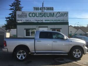 2015 Dodge Ram 1500 SPORT, 4X4, LEATHER, SUNROOF, LOADED, 16KM