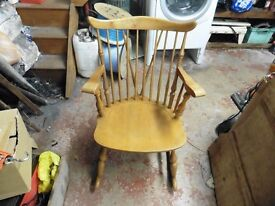 rocking chair made in yugoslavia kamnik lion.34 inches highx 23 inches wide in good condition
