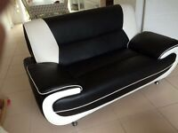 2 seat leather sofas brand new condition no marks no scratches