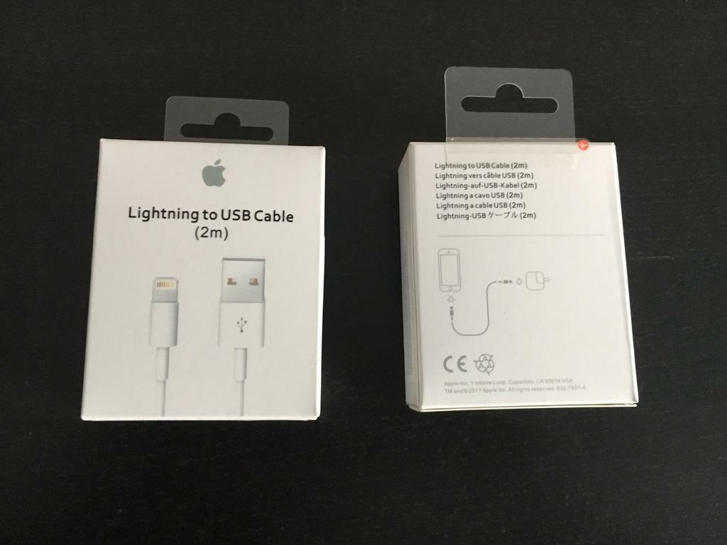 *2M* Original Apple iPhone USB Lightning charger cable 2 meters