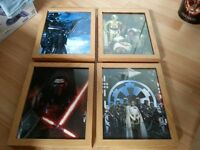 star wars framed pictures x 10