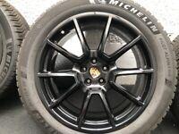 Porsche Macan sport design wheels with Michelin winter tyres