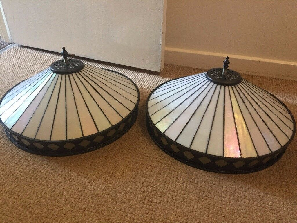 Used Pair Of Interiors 1900 Fargo Tiffany Flush Ceiling Light In Art Deco Style In Rugby