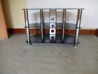 Two Shelf Glass TV Stand