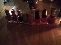 Body shop full new set of shower gel dponge soapand 9 nail polishes