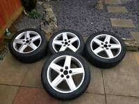 "Audi alloy wheels and tyres 17"" a4 alloys"