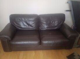 Brown sofa 3 seater and 2 seater