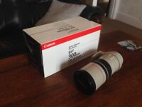 Canon 300mm f4 L series lens - boxed with case