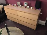 Ikea Malm Oak Sideboard/TV Unit