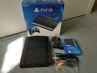 PS3 PLAYSTATION 3 SUPER SLIM BLACK 500GB BOXED