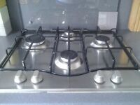 Gas Hob and Glass Splashback