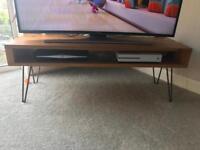 Solid wood mid-century tv unit/coffee table