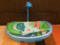 Summer infant ocean buddies baby bath tub with toy bar