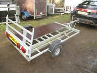 GALVANISED STEEL MOTORCYCLE / SCOOTER TRANSPORTER ROAD TRAILER....