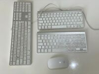 Genuine Apple Wired & Wireless Keyboards x3 and Magic Mouse (A1243/A1314) Faulty