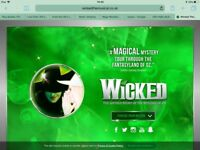 One ticket for Wicked, Apollo, London 5th December