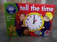 ORCHARD GAMES - TELL THE TIME GAME - BRAND NEW