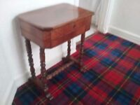 Small wooden antique table