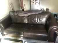 Large leather sofa/couch