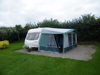 Isabella Capri caravan awning - size 775 - in green and grey