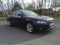 AUDI A4 LATE 2008 BLACK 2.7tdi v6 auto LEATHER SATNAV FSH 76K