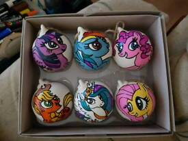 Custom hand painted baubles