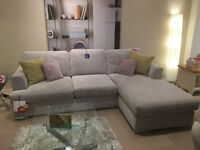 Grey DFS Corner Sofa + 5 years fabric protection plan!