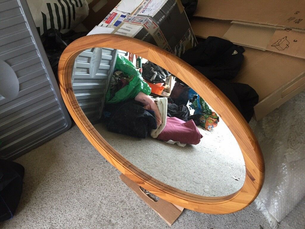 acc83a72ac82 Oval mirror with wood frame (100cm X 60cm). Blairgowrie