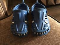 Next Toddler Boys Shark Crocs Size 7
