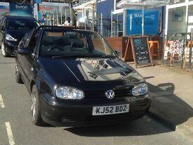 VW Golf Cabriolet SE, Black, 2 Ltr petrol. 2002 (52 Plate)