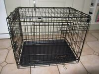 DOG CRATE - 61cm wide x 46cm high x 43cm deep