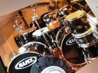 Mapex 8 Piece Drum Kit, black and silver